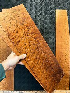 Roasted Birdseye Maple Acoustic Guitar Back and Sides Tonewood Set Dreadnought