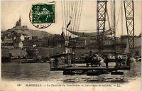 CPA MARSEILLE La Passerelle du Transbordeur et Notre Dame de la Garde (445077)