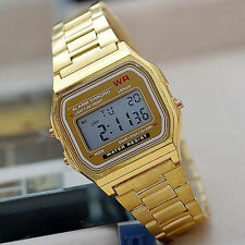 Stainless Steel Strap Rectangle Watches with Date Indicator