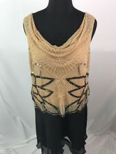 NWT Joanna Hope Plus Size Mother of Bride Dress Sequin Beaded Cowl Neck 16 AE8