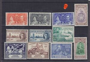 British Honduras KGVI Omnibus Issues Mounted Mint Collection