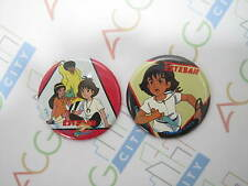 Anime The Mysterious Cities of Gold Esteban Zia Pin Badge Set of 2 Tsukuda Japan