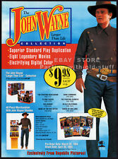 The JOHN WAYNE Collection__Original 1994 Trade AD movie promo__Industry Only