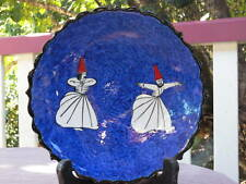 Turkish handmade ceramic plate with Whirling Dervishes.