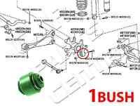 FOR TOYOTA AURIS 2006 06 on REAR ARM AXLE STUB WHEEL HUB KNUCKLE BUSH BUSHING