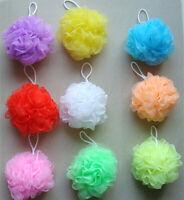 2Pcs Soft Bath Shower Wash Body Colorful Exfoliate Puff Sponge Mesh Net Ball