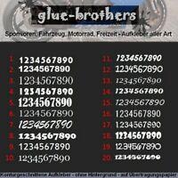 3 x 15cm Wunschnummer Aufkleber Startnummer Auto Motorrad Sticker Farbwahl