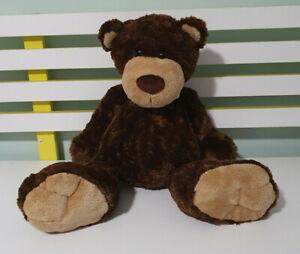 MINKPLUSH TEDDY BEAR MR PEABODY BROWN 40CM BEANS HANDS BUM FEET