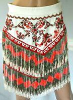 New NWT Emilio Pucci Embellished Beaded Fringe Runway Dress Skirt 4 6 / IT 42