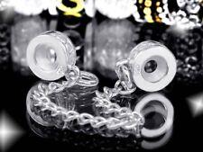MATERIA Beads Sicherheitskette Silber 925 für Armbänder ohne Gewinde #453