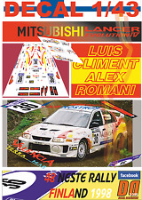 DECAL 1/43 MITSUBISHI LANCER EVO IV L.CLIMENT R.FINLAND 1998 20th (01)