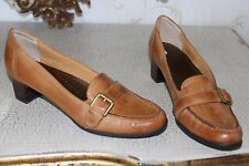 TROTTERS Tan Soft Genuine  Leather Ladies Shoes Heels Size 8AA