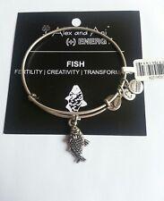 ALex and Ani FISH KOI Bangle Bracelet NWT HTF BOX Russian Silver Charm RETIRED