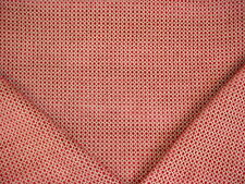 2-3/4Y BRUNSCHWIG ET FILS RUBY RED / GOLD CIRCLE CHENILLE UPHOLSTERY FABRIC