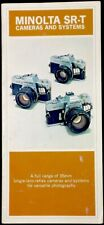 Minolta SR-T Cameras and Systems Catalog/Sales Brochure no SRT402E-B3 Vintage
