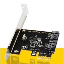 Daul SATA III PORT Internal 6Gbps Ports to PCI-Expess Host Controller Card UK OF