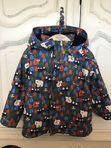 jojo maman bebe Waterproof Cosy Colour Change Hooded Coat Age 5-6 Years. Ex Cond