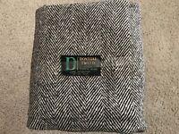 Medium Grey Herringbone All Wool Irish Donegal Tweed - 60 in. x 56 in.