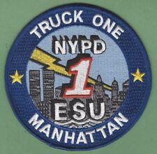 NEW YORK CITY POLICE EMERGENCY SERVICE SQUAD 1 PATCH LEFT