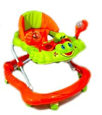 Baby Walker Orange First Steps Push Along Bouncer Activity Music Ride On Car New