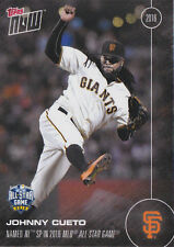 2016 Topps NOW 243 Johnny Cueto Giants All Star Game Starter ONLY 307 Printed