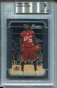 2003 Bowman Basketball #123 Lebron James Rookie Card RC Graded BGS MINT 9 Lakers