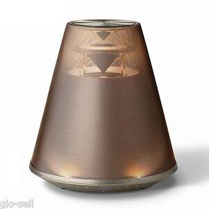 Yamaha Relit LSX-170 Brown Desktop Audio Bluetooth Speaker system with LED light