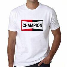 Motorbike CHAMPION logo White Herren T-shirt Men Damen Shirt, Kinder shirt