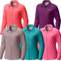 """New Womens Columbia """"Meadowgate"""" Omni-Shade Vented Long Sleeve Shirt Plus Size"""