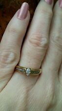 14k Y Gold Keepsake  Marquise Diamond Engagement or Right Hand Ring , boxed