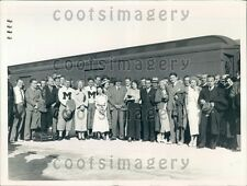 1936 University of Mississippi Football Team Arrives by Train Miami Press Photo