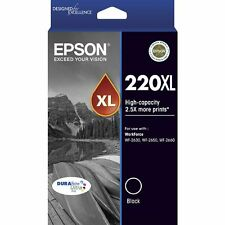 1x Epson Genuine 220XL High Yield Black WF-2630 2650 WF-2660 XP 220 320 324 420
