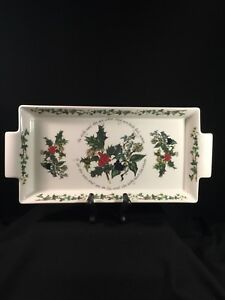 """Portmeirion """"The Holly & The Ivy"""" design, Cook & Serve Handled Tray, England"""