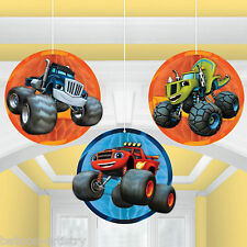 3 Blaze & The Monster Machines Children's Party Hanging Honeycomb Decorations