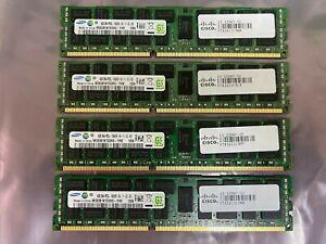 Lot of 4 Samsung M393B1K70DH0 32GB (4x8GB) 2RX4 PC3L-10600R Server RAM Memory