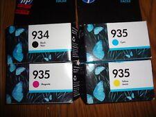 SET OF 4 GENUINE HP 934 Black & 935 CYAN / M/Y INK  OFFICEJET PRO 6815 6230 6835