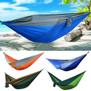 Sleeping Swing Hammock for Outdoor Garden Yard Beach Travel Max Load 500 Pounds Lsooyys Portable Double Camping Hammock with Parachute Nylon Cloth Orange /& Gray