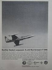 10/61 PUB HAMILTON STANDARD WEST GERMANY LOCKHEED F-104G STARFIGHTER ORIGINAL AD
