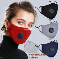 Reusable Cotton Mask Cover Activated Carbon Filter Mouth-muffle Anti-fog PM2.5