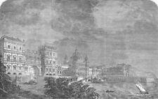 PALACES. Royal Academy prize design(Marine Palace), antique print, 1851