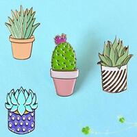 Cute Cactus Corsage Collar Brooch Pins Enamel Badge Accessory Decor Xmas GIFT