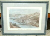 VIEW OF OPORTO, COLOURED LITHOGRAPH ON PAPER, FRENCH, 19TH C., DEROY TURGIS