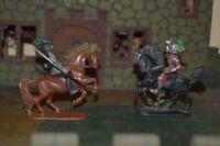 Jean Höfler Figuren Ritter Reiter Pferde Konvolut Made in W-Germany Mittelalter