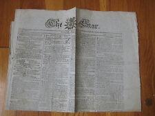 1796 The Star Evening Advertiser ANTIQUE NEWSPAPER London UK Block Island RI