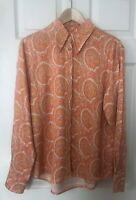 & Other Stories capsule Orange Paisley Shirt - Size 12 EU 38