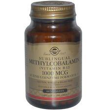 Vitamin B12, 1000 mcg, 60 Nuggets  Sublingual Methylcobalamin - Solgar