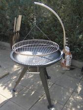 Schwenkgrill Grill Feuerschale 80 cm / Edelstahl Grillrost 70 cm Rost XXL BBQ