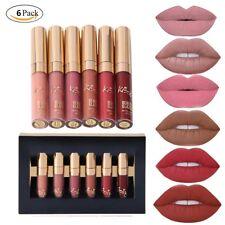 6pcs Matte Velvety Liquid Lipstick Matte Liquid Lipgloss Waterproof Lip Gloss