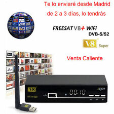 Freesat V8 Super+Wifi Satellite Receiver DVB S2 Digtal Full HD1080P Support Biss