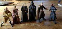 Star Wars Keychains Lot of 3x Jedi + 3x Sith (with broken Ligthsaber) LFL 2007